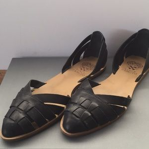 Vince Camuto black leather sandals size 9